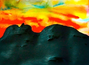 Sunset Over Bulbowen - Artist: Fiona Lohrbaecher