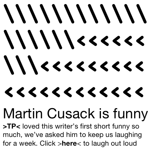Martin Cusack is funny cropped