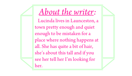 Lucinda about the writer